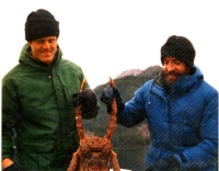 Crab fishing with Joe & Kevin in Alaska in the mid 80s. Photo courtesy of Joe Burke