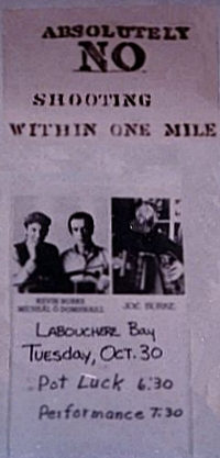 Gig poster for Labouchere Bay, Alaska in the mid 80s. Photo courtesy of Joe Burke