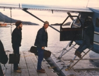 Micheal, Kevin & Joe boarding a seaplane during the Alaskan Tour. Photo courtesy of Joe Burke