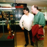 With Cathal Hayden in Minon HQ Museum, Tokyo, Japan in 1999
