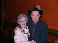 Dancing with Auntie Maureen at cousin Niall's wedding to Ailbhe, 2004