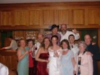 Family celebrations at cousin Niall's wedding to Ailbhe, 2004